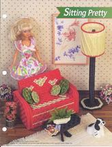 Sitting Pretty Fashion Doll Plastic Canvas Pattern~Annie's~1995 - $7.99