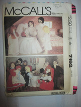 1980 MCCALLS 7192 DOLL FAMILY & CLOTHES DOLL PA... - $3.95