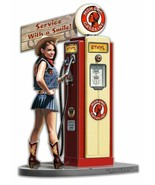 Service with a Smile Mohawk Gas Pump Girl Metal Sign by Larry Grossmna - $35.95