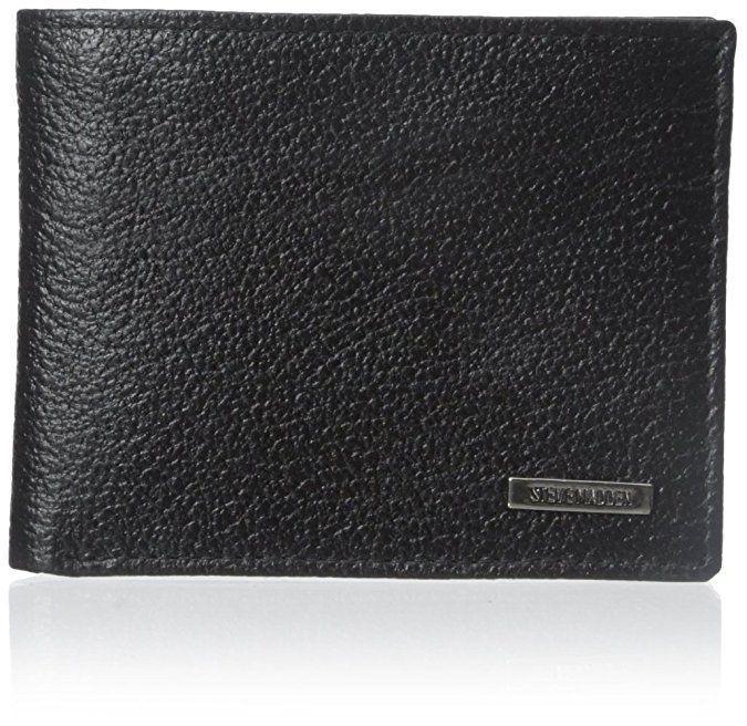 Steve Madden Men's Leather Credit Card ID Passcase Wallet Black N80010/08