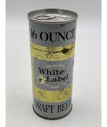 White Label 16oz Pull Tab Draft Beer Can Vintage Original Minneapolis MN... - $10.40