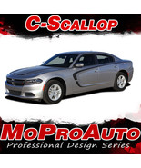 2015 Dodge Charger Pro 3M Vinyl Graphics Hood C-SCALLOP Side Decals Stri... - $126.74