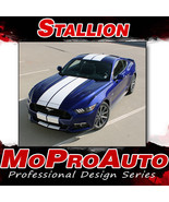 "2015 Ford Mustang Lemans Hood 10"" Racing Rally Stripes 3M Vinyl Graphic ... - $187.49"