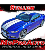 "2015 Ford Mustang Lemans Hood 10"" Racing Rally Stripes 3M Vinyl Graphic ... - $199.99"