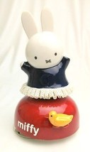 Miffy 60th Ceramic Porcelain Lace Doll Music Box JAPAN LIMITED! Plush Figure  - $83.92