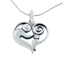 Sterling Silver Mother With Child Pendant Necklace - $43.59 CAD