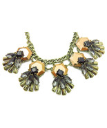 Copper Black Gray Geometric Fashion Statement Necklace Earring Set - $25.60