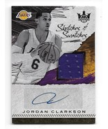 2017-18 Court Kings Sketches and Swatches Jordan Clarkson Autographed Re... - $10.89
