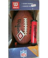Wilson NFL Junior Size Sewn Rubber Leather Football - Air Pump and Kicki... - $18.00