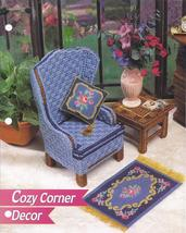 Cozy Corner Decor Fashion Doll Plastic Canvas Pattern~Annie's~1995 - $5.99