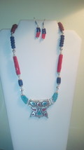 Bali Style Multi Color Necklace & Earrings Set - $19.99