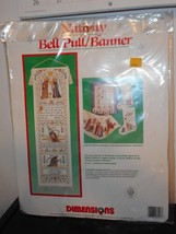 Nativity Bell Pull Banner - Counted cross Stitch Kit from Dimensions - V... - $18.00