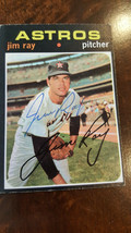 1971 Topps Signed Card Jim Ray Houston Astros Detroit Tigers Ultra Rare # 242 - $123.74