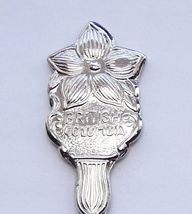 Collector Souvenir Spoon Canada BC Salmon Arm Dogwood Flower Emblem - $9.99