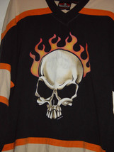 Biker Design Collection  Skull on Fire T-Shirt Size Med - $25.00