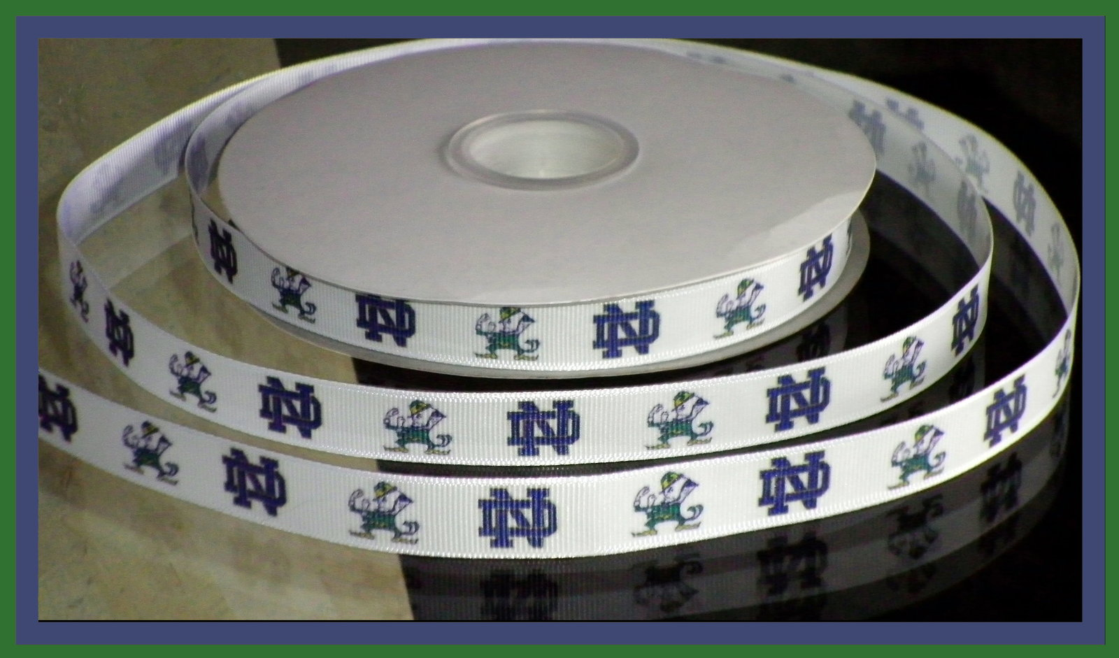 Notre Dame Fighting Irish Inspired Grosgrain Ribbon for sale  USA