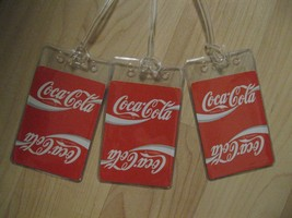 Coca Cola Luggage Tags - Coke Soda Pop Repurposed Playing Cards Name Tag... - $19.79