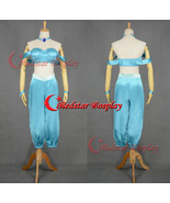 Princess Jasmine cosplay costume dress from Aladdin and the King of Thie... - $68.00