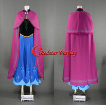 Snow Queen Anna Coronation Cosplay Costume Dress - $118.00