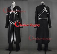 Sword Art Online Cosplay Kazuto Kirigaya Cosplay Costume - Black Uniform or Plea - $79.00