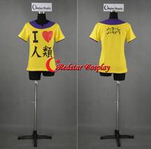No Game No Life Sora I heart Humanity I love Imanity Cosplay Short Sleeve Yellow - $29.00