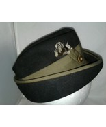 Black Felt Bowler Derby Hat Olive Green Hat Band and Trim Edge Featers 21 - $16.99