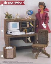 At the Office Fashion Doll Plastic Canvas Pattern~Annie's~1995 - $5.99
