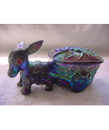 Donkey with cart, Made in Hong Kong, mid century, hard plastic, trinket box - $25.00
