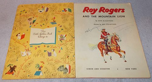 Little Golden Book -  Roy Rogers and Cowboy Toby, 2nd edition, Copyright 1954
