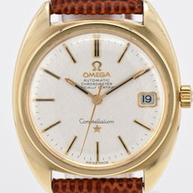 """Omega """"Constellation GP leather Date self-winding"""" Men's Watch K # 84459 - $1,246.86"""