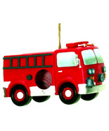 Fire Engine BIRDHOUSE and Feeder. Firefighter's Fire Truck Birdhouse - $21.77