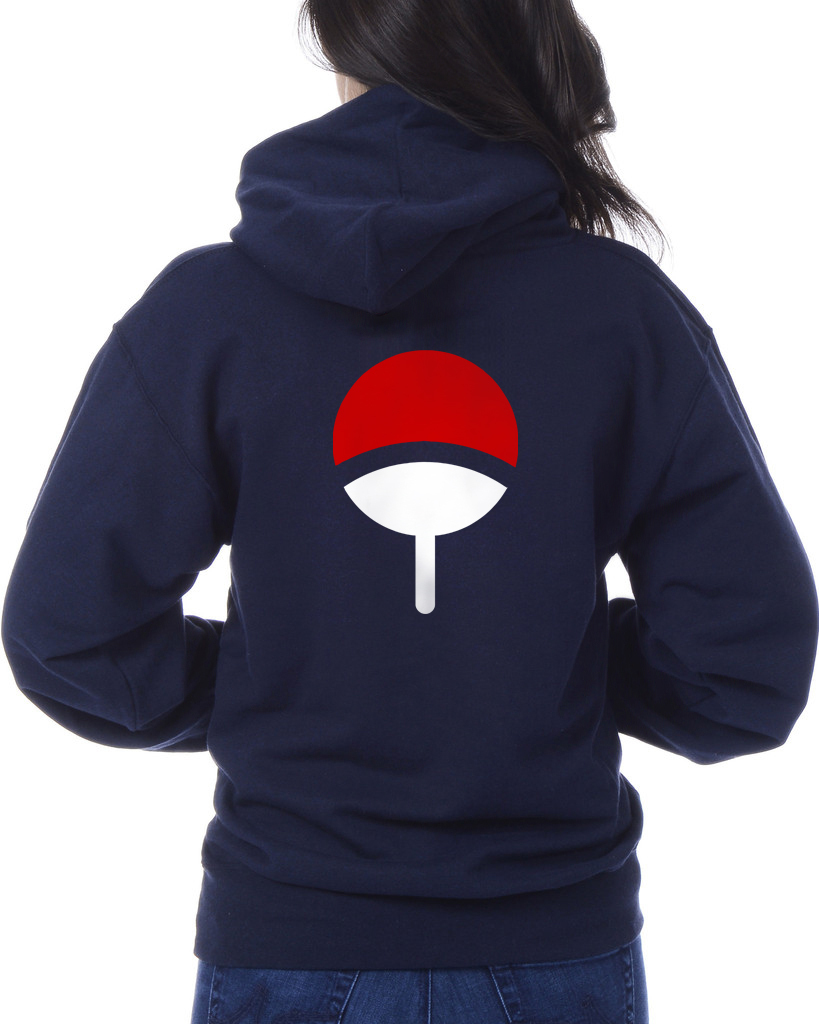 Uciha back hoodie navy
