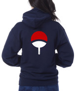 Uchiha on back only uchiha Clan Symbol Naruto unisex pullover hoodie NAVY - $31.00+