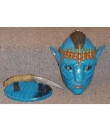 Avatar Movie Jake Sully Decorative Wall Mask and Knife with Stand Display - $224.99