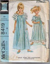 1966 Child's ROBE & NIGHTGOWN Pattern 8419-m Size 10 - UNCUT - $9.99