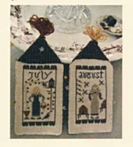 July August Amish Girl Series cross stitch chart Niky's Creations - $12.60