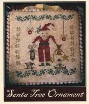 Santa Tree Ornament cross stitch chart Niky's Creations - $12.60