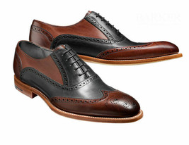 Mens Brown Black Tone Rounded Toe Genuine Leather Lace Up Handmade Oxford Shoes - $139.99+