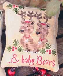 Santas Bears /& Baby Bears Cross Stitch Chart