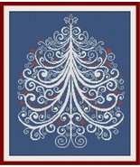 CT89 Christmas Tree cross stitch chart AAN Alessandra Adelaide Needleworks - $15.30