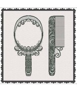 Comb and Mirror cross stitch chart AAN Alessandra Adelaide Needleworks  - $14.40