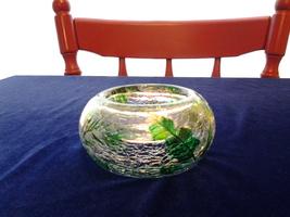Yankee Candle Fern Crackle Glass Votive Holder #1136243, New - $5.25