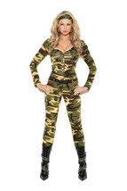 Sexy Elegant Moments Army Combat Warrior Halloween Costume S-L 1X/2X 3X/... - $43.99