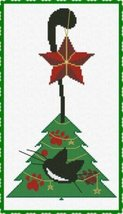 Meow Christmas Tree cross stitch chart AAN Alessandra Adelaide Needleworks  - $15.30