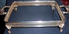 """Vintage 1970's Silver Plate Buffet Server 8"""" x 17"""" - $12.99"""