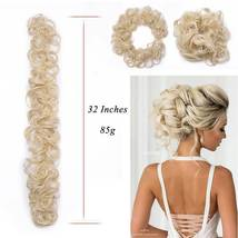 100% Real LARGE Thick Messy Bun Hairpiece NaturalHair Extension Curly image 4