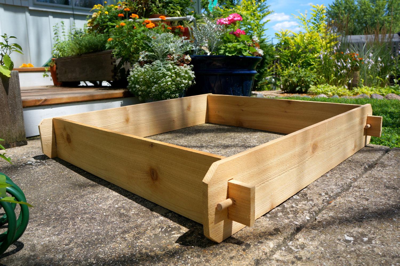 Raised Bed Garden Planter Flower Vegetable Cedar Outdoor