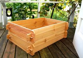 Cedar Garden Raised Bed Planter Flower Box Vegetable Elevated Outdoor Kit Herb - $79.99