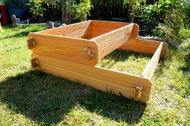 Garden Bed Raised Cedar Planter Tiered Tier Box Flower Vegetable Outdoor Herb  - $84.99