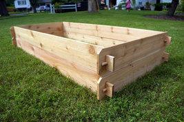 Raised Garden Planter Bed Flower Box Cedar Vegetable Elevated Outdoor Kit Plant - $124.99